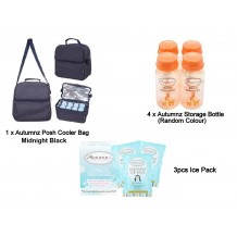 Autumnz - Posh Cooler Bag Package with Free Gift (Midnight Black)